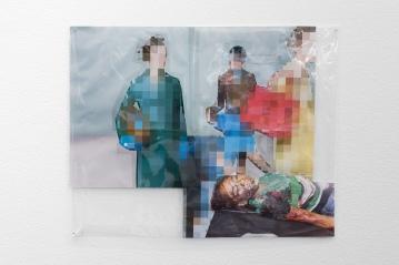 Thomas Hirschhorn, Pixel-Collage, installation view