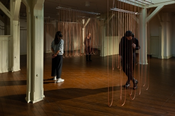 Christina Kubisch, Weaving, installation view